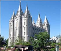 one of the LDS temples, Salt Lake City, Utah
