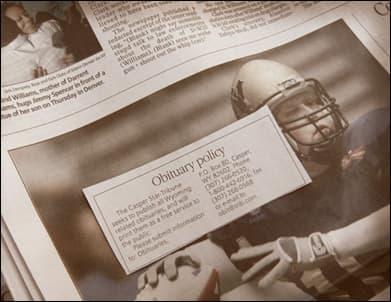 R I P : Casper Star-Tribune Free Obituaries | WyoFile
