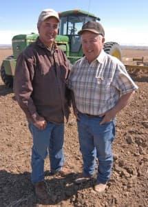 Ted Vigil, right, and son Danny Vigil