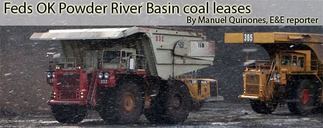 Feds OK Powder River Basin coal leases