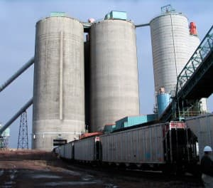 Coal Silos at the Belle Ayr mine