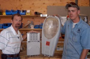 Bert Pond and Devin Bult of Cody Electric Division