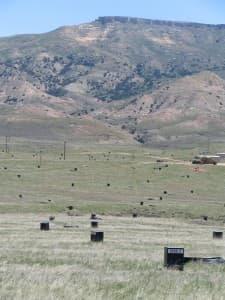 Uranium mine black bloxes at the Christensen Ranch