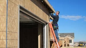 Matt Reed works on a new home in Casper.