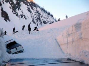 Sylvan Pass snow clean-up
