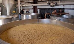 Wyoming Whiskey fermentation tanks