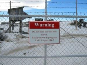 Gate outside of Carissa Mine