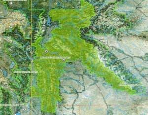 Bridger-Teton Map in Wyoming