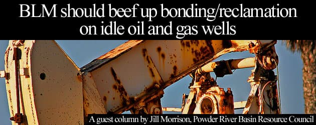 BLM should beef up bonding/reclamation  on idle oil and gas wells