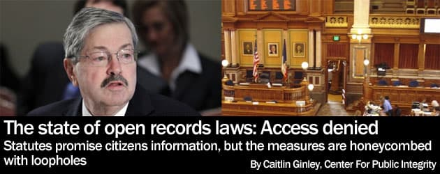 The state of open records laws: Access denied