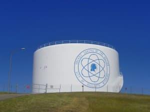 Gillette water tank