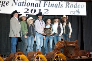 The Central Wyoming College team receiving their plaque
