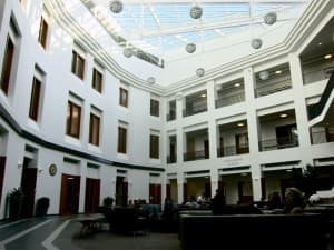 The Jonah Bank Atrium in the new College of Business, completed in June 2010 for $57.6 million. The atrium is considered one of the most impressive additions to campus.