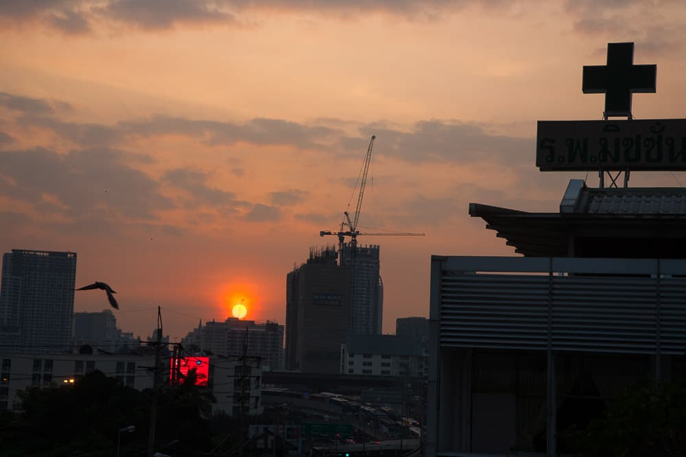 Mission Hospital stands in the heart of Bangkok, Thailand