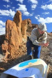 Jay Lillegraven says the DKRW project is likely to impact nearby wetlands. (Allen Best/WyoFile — click to view)