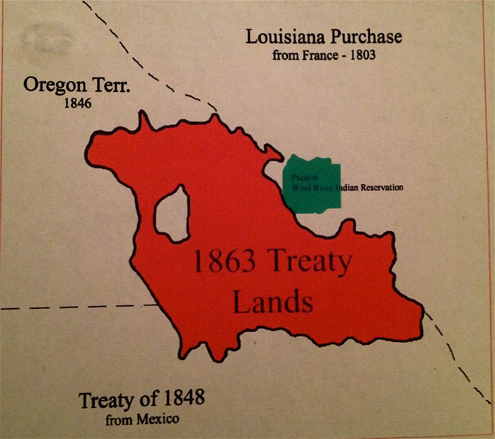 The Relative Size Of Tribal Territories In 1863 And Today The Green Field Is The