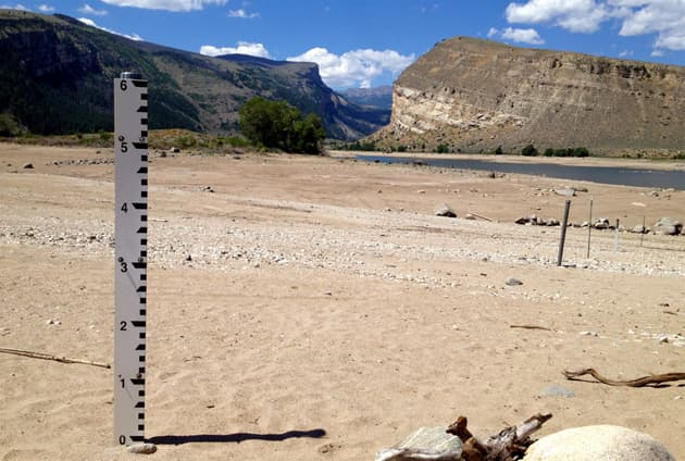 Washakie Reservoir ran out of water early this year, leading tribes to call for the replacement of the BIA irrigation manager. (WyoFile photo/Ron Feemster)
