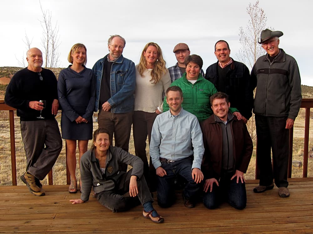 From left to right: WyoFile co-founder Rone Tempest, board member Katie Hogarty, board chair Anne MacKinnon, reporter Ron Feemster, former development director Kelly Statton, reporter Gregory Nickerson, editor-in-chief Dustin Bleizeffer, board member Anne Ladd, business manager Guy Padgett, board member Patrick Larvie, and friend-of-WyoFile Pete Simpson. (click to enlarge)