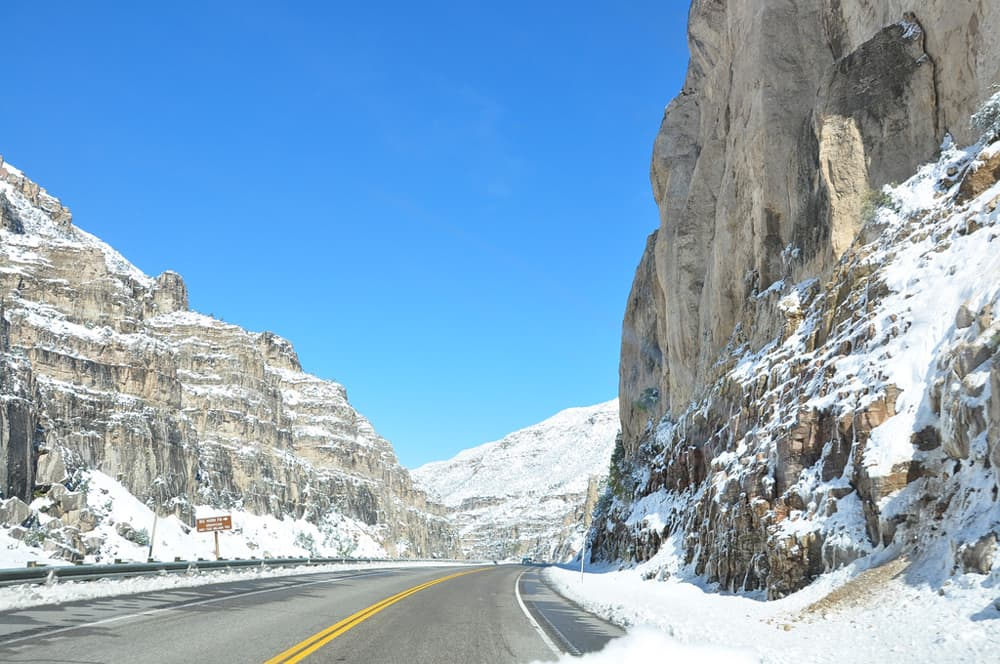Snow Wind River Canyon