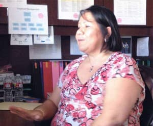 """Vonda Wells, the director of the Women, Infants and Children program for the Northern Arapaho Tribe told her staff to """"prepare for the worst and think the best"""" as the partial government shutdown dragged on. (Ron Feemster/WyoFile - click to enlarge)"""