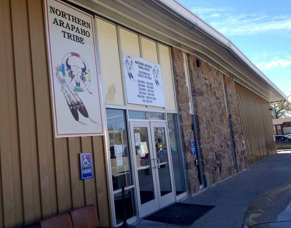 Workers in departments of the Northern Arapaho Tribal Office had feared massive layoffs if the partial federal government shutdown continued. (Ron Feemster/WyoFile - click to enlarge)