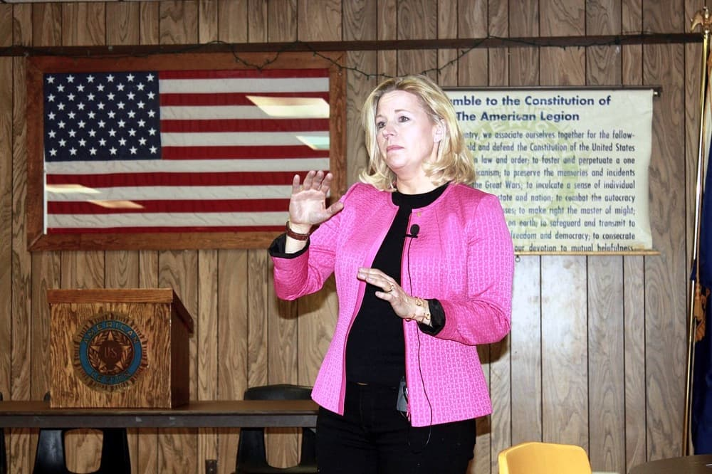 Liz Cheney speaks in Buffalo, Wyoming. (Wikimedia Commons — click to enlarge)