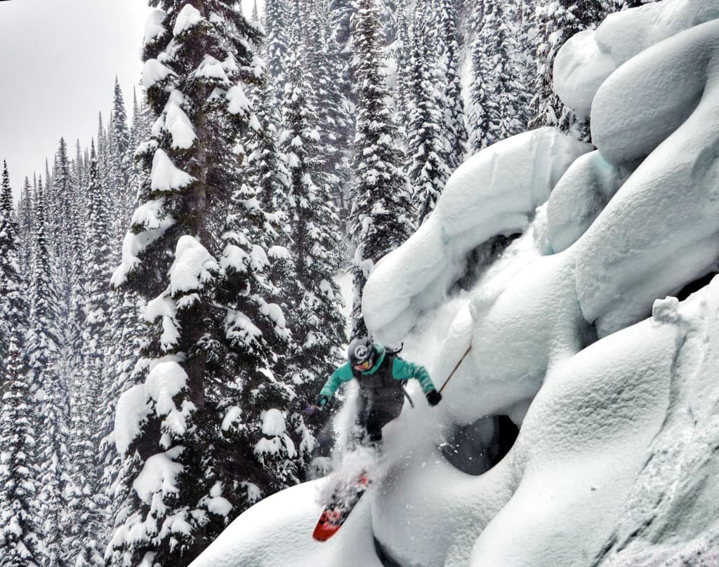 Professional freeskier Lynsey Dyer of Jackson is working to create an all-female ski film. (Photo courtesy Unicorn Picnic Productions – click to enlarge).