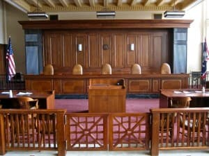 The chambers of the Wyoming Supreme Court, which recently struck down Senate File 104, the 2013 law that transferred duties from the Superintendent of Public Instruction to an appointed director. (WyoFile/Gregory Nickerson — click to enlarge)