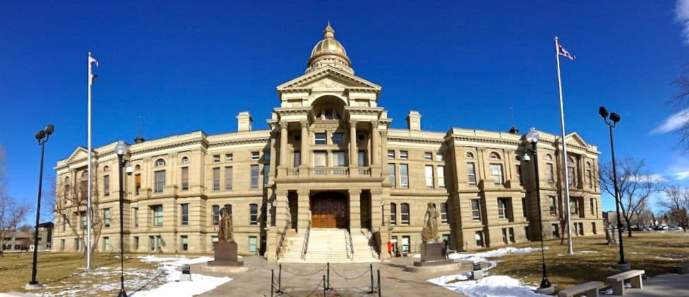 Lawmakers approved a bill that will spend $259 million to renovate the Wyoming State Capitol. (WyoFile/Gregory Nickerson — click to enlarge)