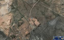This recent Google Earth image shows the site of the proposed Two Elk power plant, which Wyoming DEQ has deemed as under construction for some 15 years, maintaining a pollution emissions permit.
