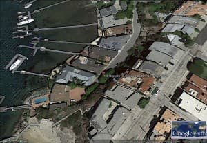 Corona del Mar beachfront satellite view (click to enlarge)