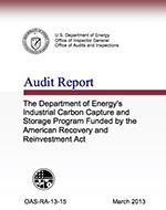 DOE IG Audit March 2013