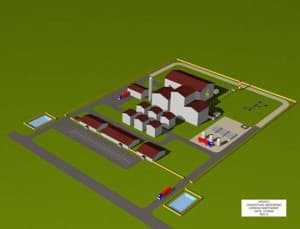 schematic of GE-UW gasification proposed facility (click to enlarge)