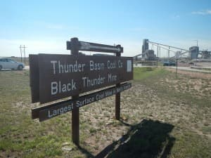 """The massive Black Thunder mine is next to Two Elk site (Rone Tempest/WyoFile — click to enlarge)"""