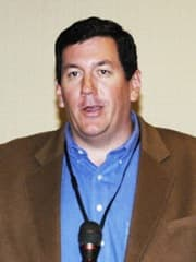 Brad Enzi, vice president of North American Power Group is a 1997 University of Wyoming journalism-communications graduate