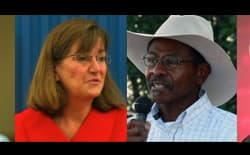 Candidates for the Wyoming governors' race in 2014. From left to right: Pete Gosar (D), Cindy Hill (R), Taylor Haynes (R), and Gov. Matt Mead (R). (courtesy photos )