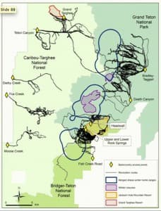 Teton bighorn sheep closures and recreation map (click to enlarge)