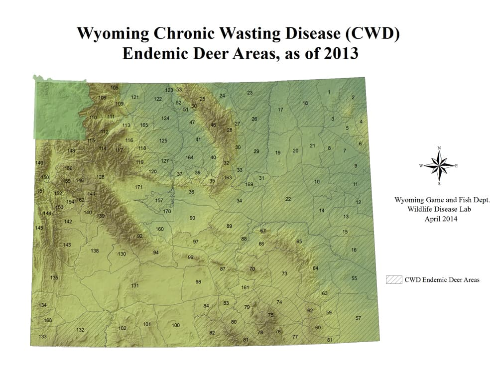 Development cwd weigh on diminishing deer wyofile for Wyoming game and fish maps
