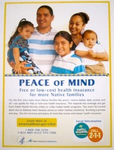 Healthcare.gov poster for American Indian communities. (click to enlarge)