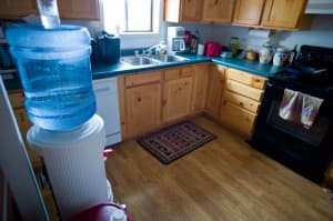 Pure water dispensers are ubiquitous in Pavillion residences, like this one in a kitchen on Jeffrey Locker's property.
