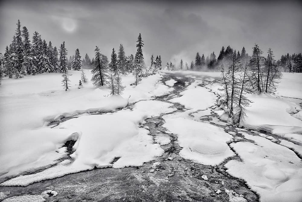 """""""Winterland, Yellowstone NP, WY"""" by Christopher Rock hangs in a show in Sheridan, Jackson and Laramie in celebration of the anniversary of the Wilderness Act."""
