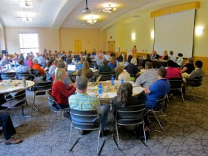 New faculty attend an orientation at the University of Wyoming. (Gregory Nickerson/WyoFile — click to enlarge)