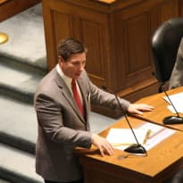 Rep. Nathan Winters (R-Thermopolis) said he sponsored House Bill 83-Religious Freedom Restoration Act to protect freedom of conscience. Opponents of the measure worry it could allow businesses to refuse service to members of the public for religious or moral reasons. (Gregory Nickerson/WyoFile)
