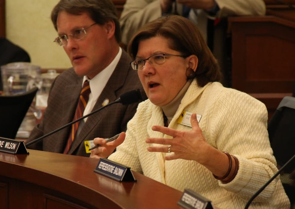Rep. Sue Wilson (R-Cheyenne) has drafted a modified version of the SHARE Plan which includes the creation of a task force to study the health care system. The deadline for introducing the draft bill is Friday. (Gregory Nickerson/WyoFile)