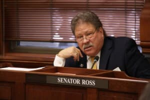 Senate Appropriations chairman Tony Ross (R-Cheyenne). (WyoFile/Gregory Nickerson — click to enlarge)