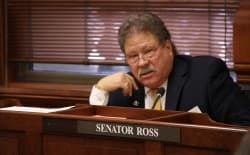 """Sen. Tony Ross (R-Cheyenne) called the 2016 spending proposal """"a budget like you've never seen before."""" (Gregory Nickerson/WyoFile)"""