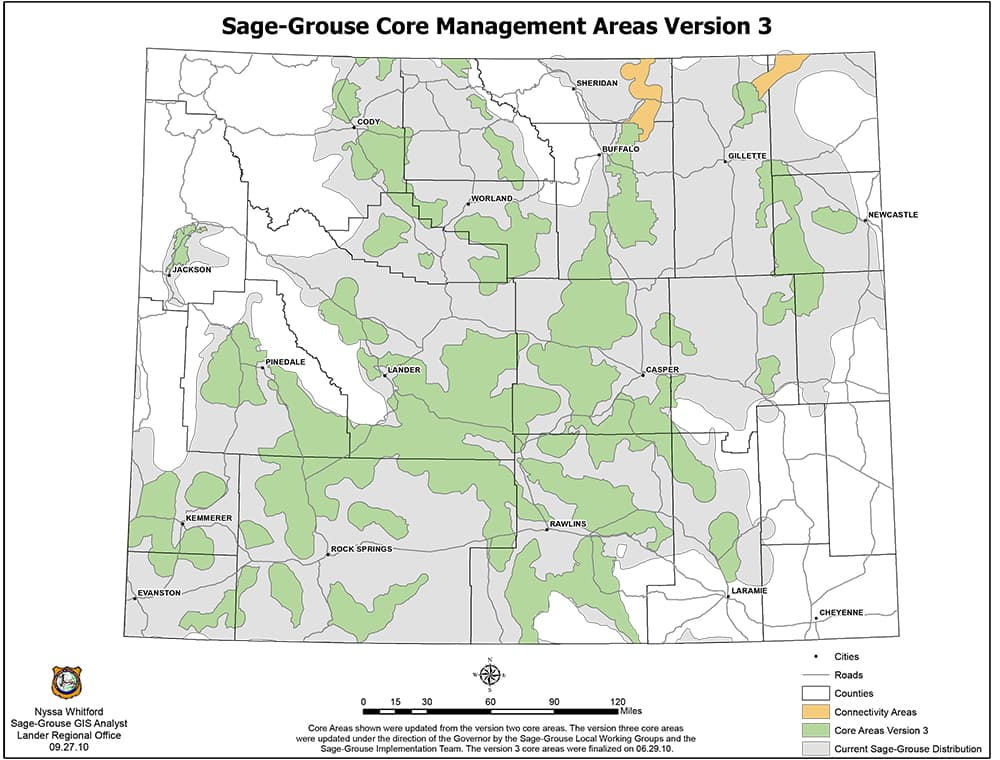 For the first time in five years Gov. Matt Mead will decide whether to alter the core-area strategy map. Among the issues are whether to protect a corridor connecting the Jackson Hole population with the rest of the state and whether winter range in a planned gas field in Sublette County also deserves special rules limiting the density of development.