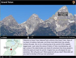 It's a pretty amazing view from the top of the Grand Teton, and now you can experience it via virtual tour. (Photo by Karen Kanes, National Park Service)
