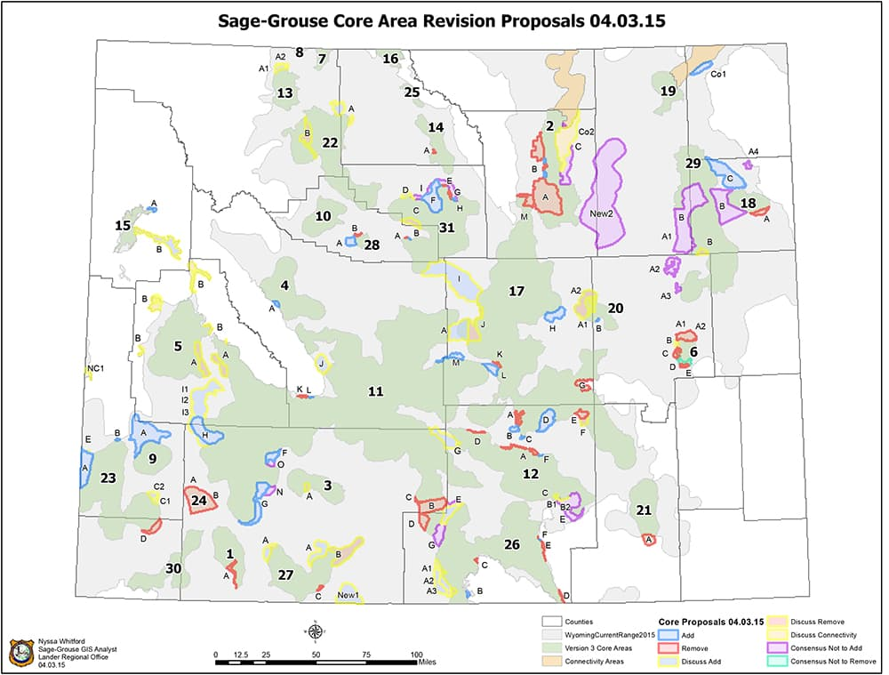 Statewide team to mull gas greater sage grouse conflict for Wyoming game and fish maps
