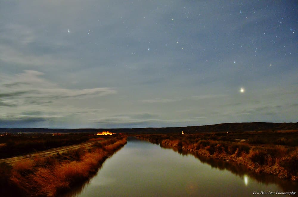 Canal under stars